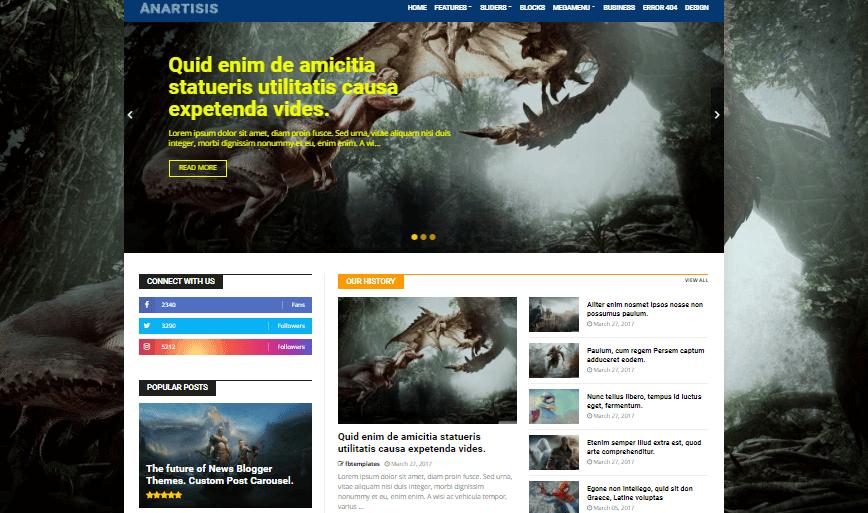Anartisis free blogger template