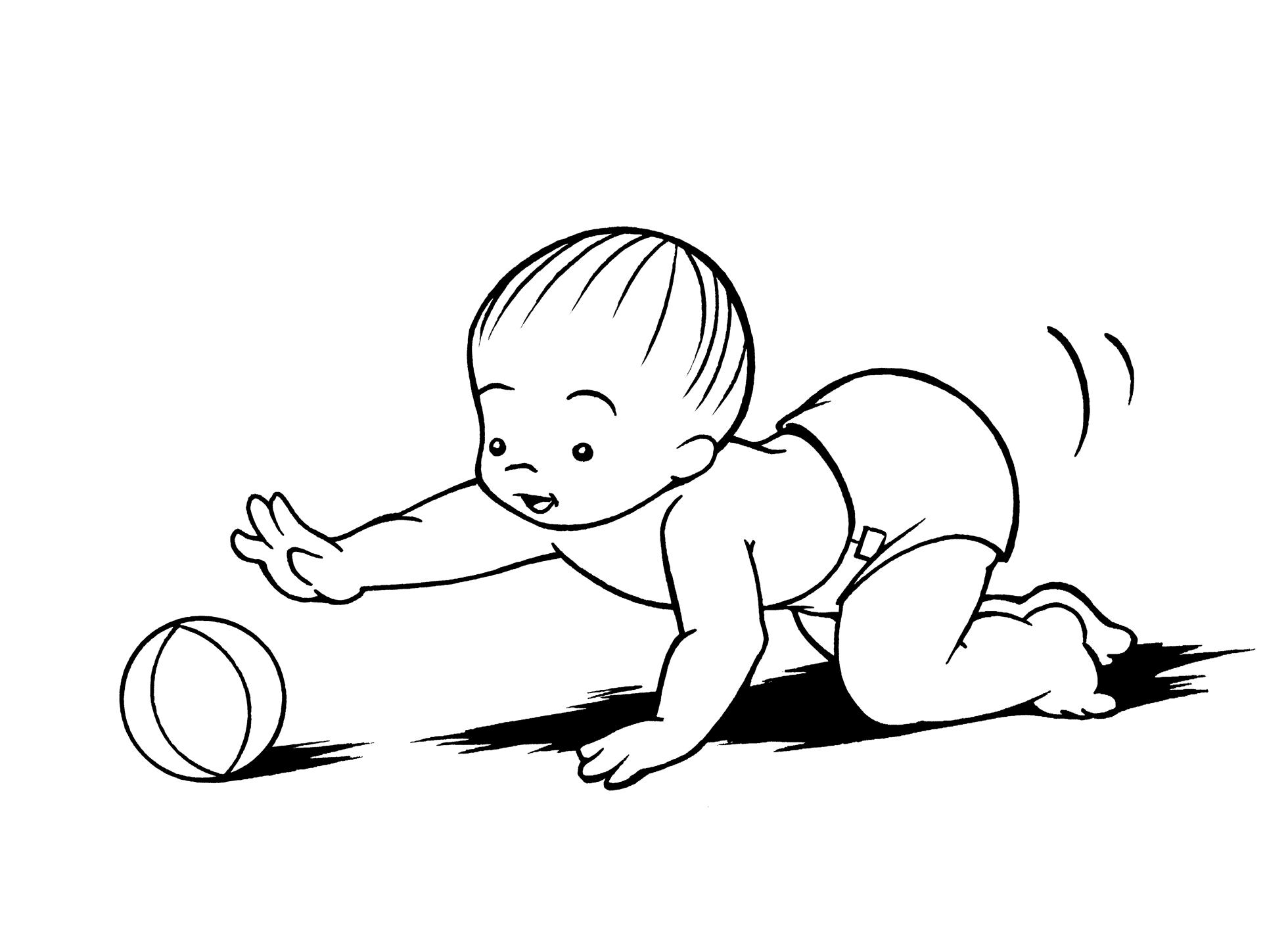 He crawls!