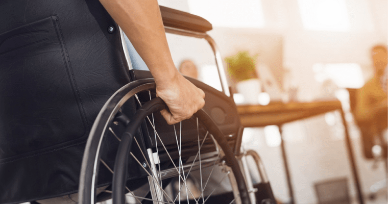 Take a load off. Contemporary, lightweight wheelchair design