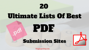 20 Ultimate Lists Of Best PDF Submission Sites
