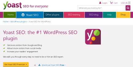 Yoast SEO plugin which helps you to write great SEO friendly blog content