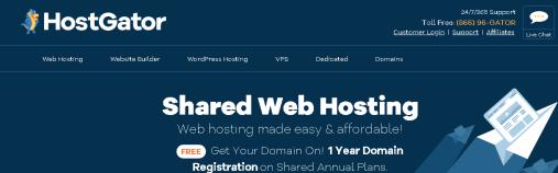 Hostgator Shared Hosting services