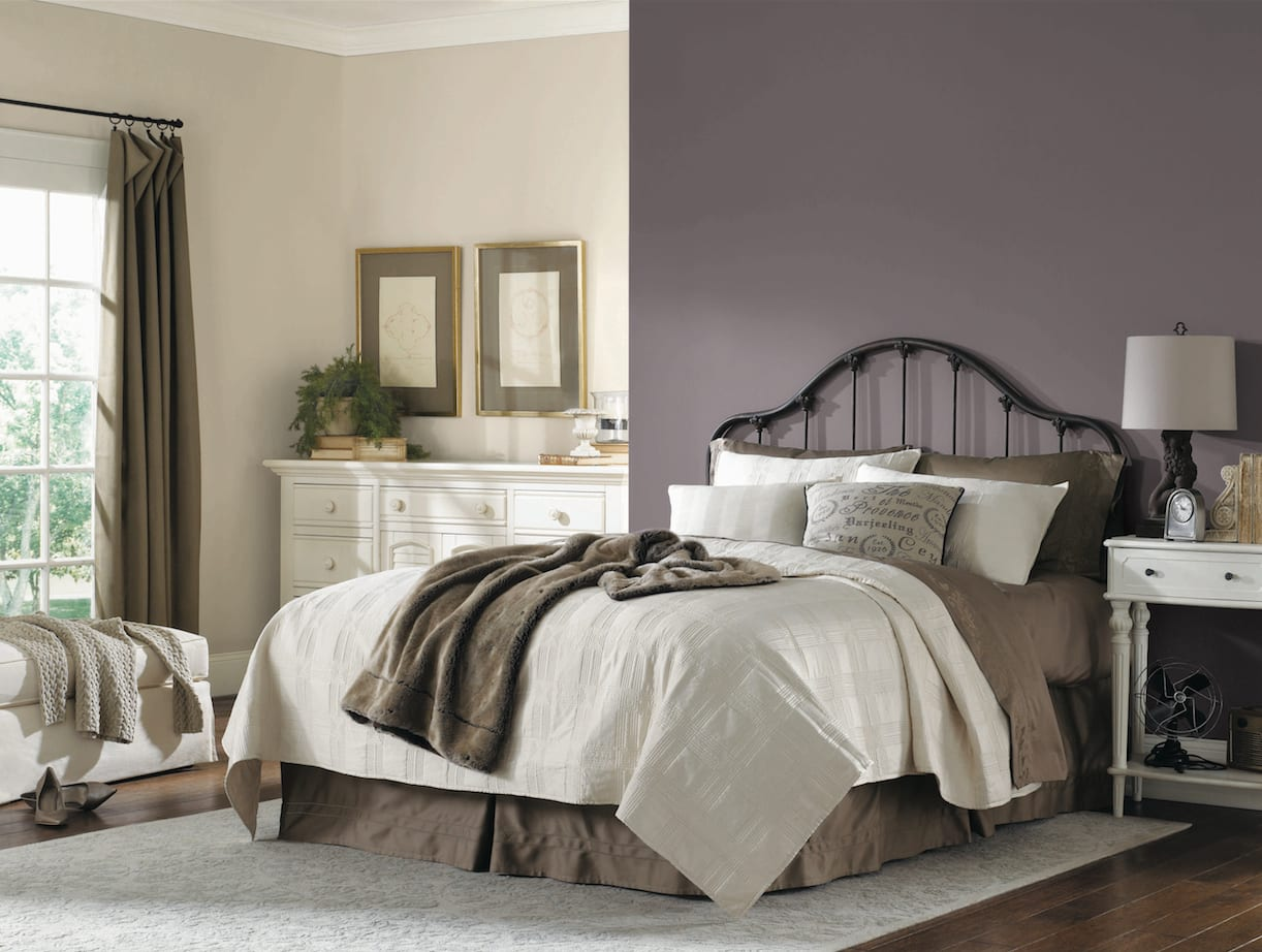 What color should you paint your bedroom exclusive plum for Exclusive plum bedroom