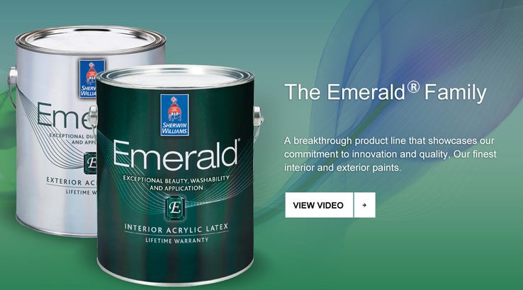 Sherwin Williams Has Expanded The Emerald Family Of Products, Its Finest  Interior And Exterior Paints, With The New Emerald® Interior/Exterior  Waterbased ...