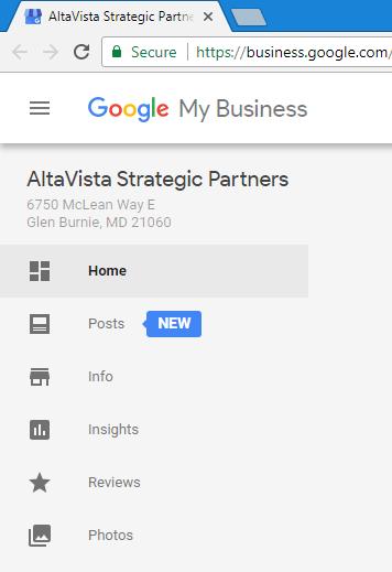 Accessing Google Posts Via Google My Business Menu