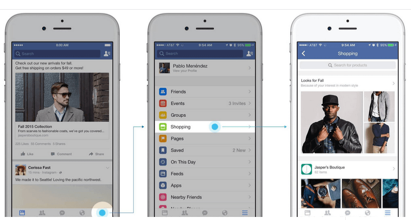 Facebook Adds Shopping Section To Tap E-Commerce Potential