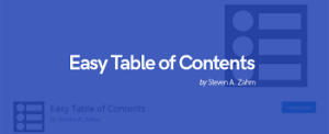 Easy table of contents- SEO plugin