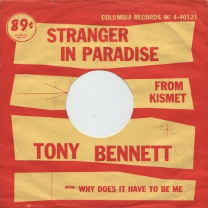 Song of the Day: Stranger In Paradise