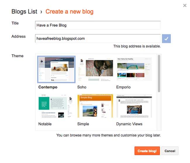 Name Your Blog Blogspot