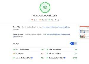 Google PageSpeed Insights SiteGround