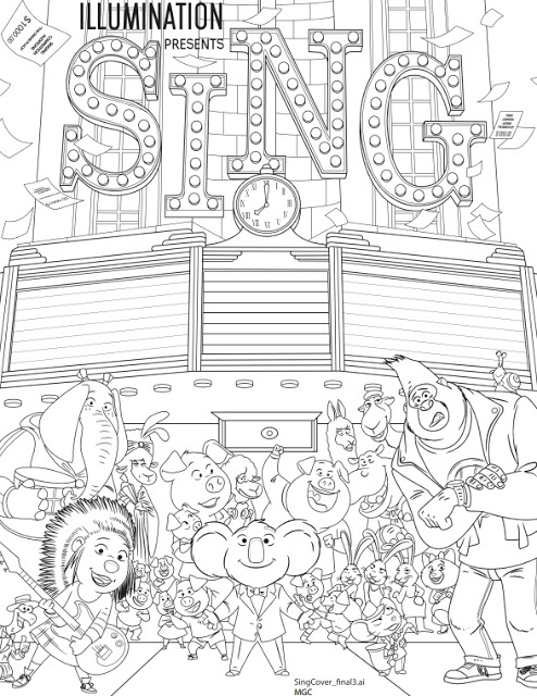 Stop adulting and come color! #SINGmovie