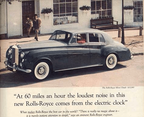 David Ogilvy Headline Rewrite Rolls Royce