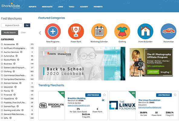 Shareasale affiliate platform