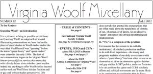VWM Queering Woolf