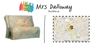 Mrs. Dalloway bench with map