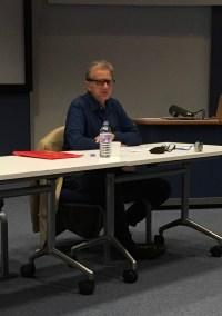 David Bradshaw at his plenary talk at this year's Virginia Woolf conference.