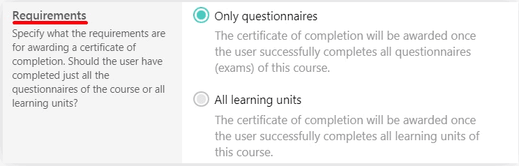 Specifying the requirements for issuing certificates