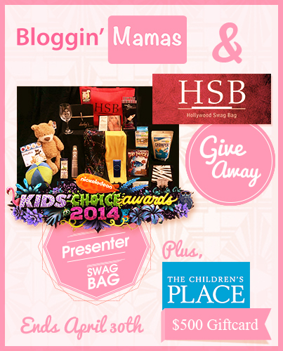 #BlogginMamas Kids' Choice Awards Presenter Swag Bag and $500 The Childrens' Place Giftcard Giveaway