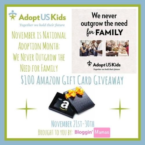 National Adoption Month Awareness Giveaway- US 18+- Ends 11-30-15