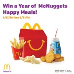 Giveaway: Win a Year of McNuggets Happy Meals!