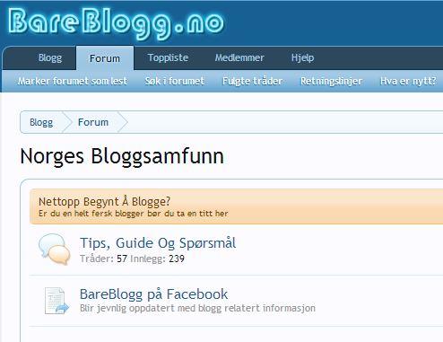 BareBlogg.no – Norges største forum for bloggere