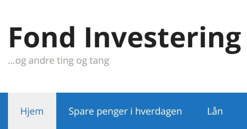 Fond Investering