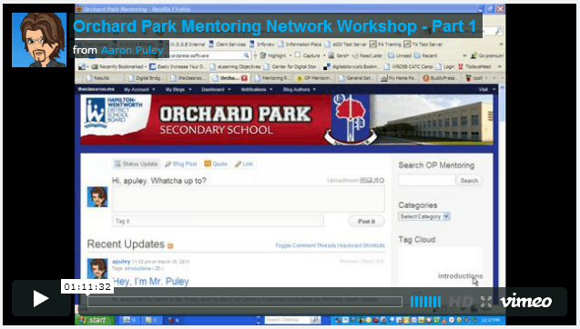 Protected: Orchard Park Mentoring Network Workshop
