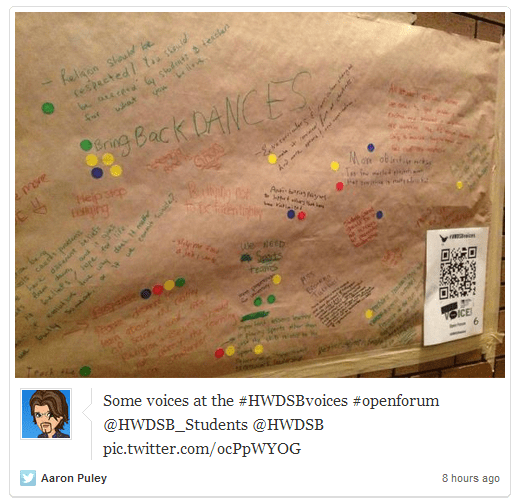 Documenting South Cluster Tweets – @Storify #HWDSBvoices