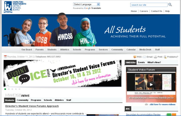 HWDSB Student Voice Web