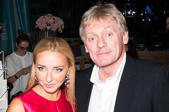 Татьяна Навка и Дмитрий Песков устроили спортивные выходные с детьми