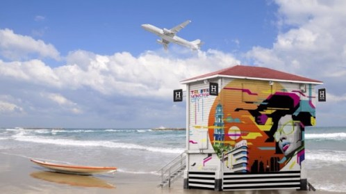 Torre de vigilancia reconvertida en hotel situada en la playa Frishman, Tel Aviv. Fotografía gentileza de Turismo de Israel