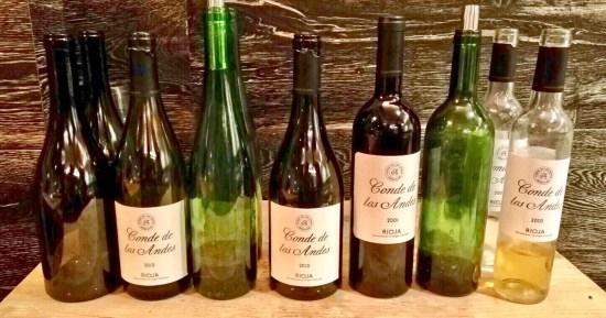 Los vinos de la Bodega Conde de los Andes