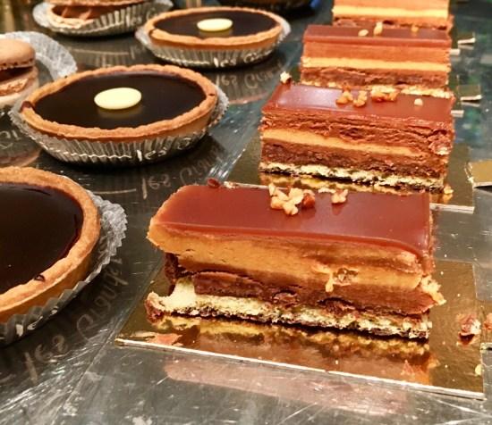 Tartaletas de chocolate y finger de choco caramelo