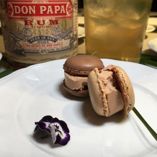 Macaron de foie micuit