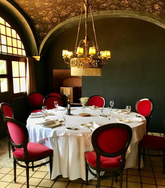 Comedor del Hotel Restaurant Mas La Boella