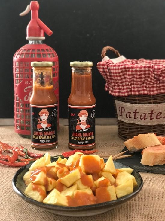 Patatas con la salsa brava Juana Madrid