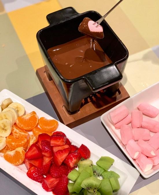 Fondue de chocolate en Pla de la Cot