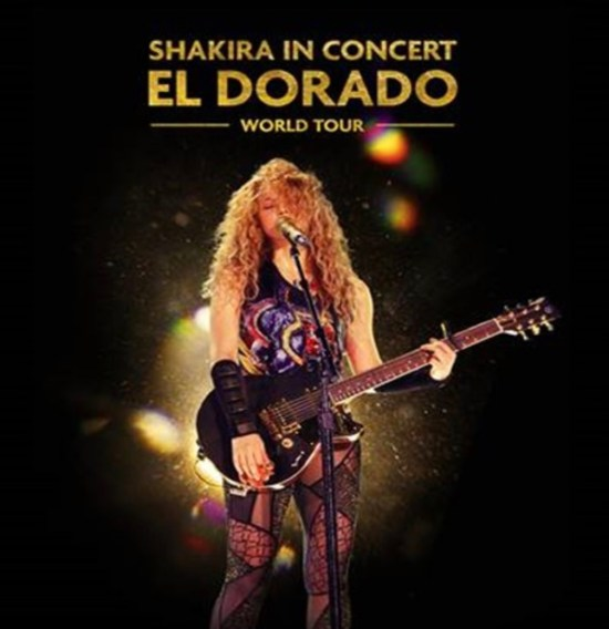 Cartel del largometraje Shakira in Concert. El Dorado World Tour