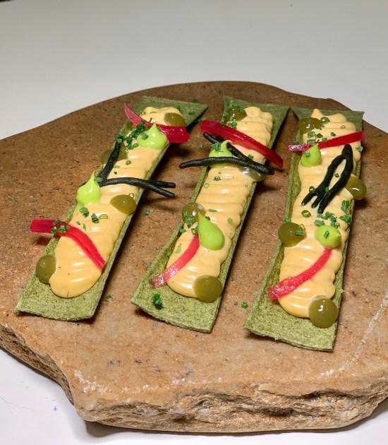 Snack emulsión de roca y algas