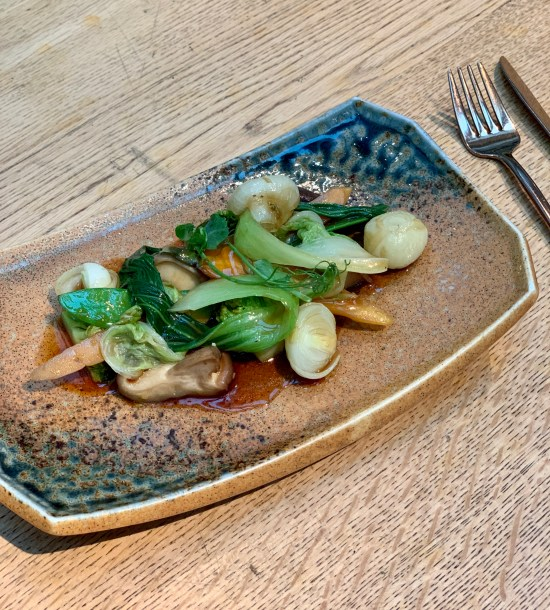 Wok de verduras y salsa de ostras