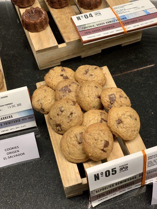 Cookies elaboradas con chocolate origen El Salvador