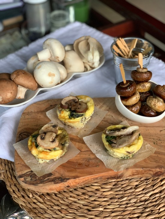 Muffins de champiñones y espinacas