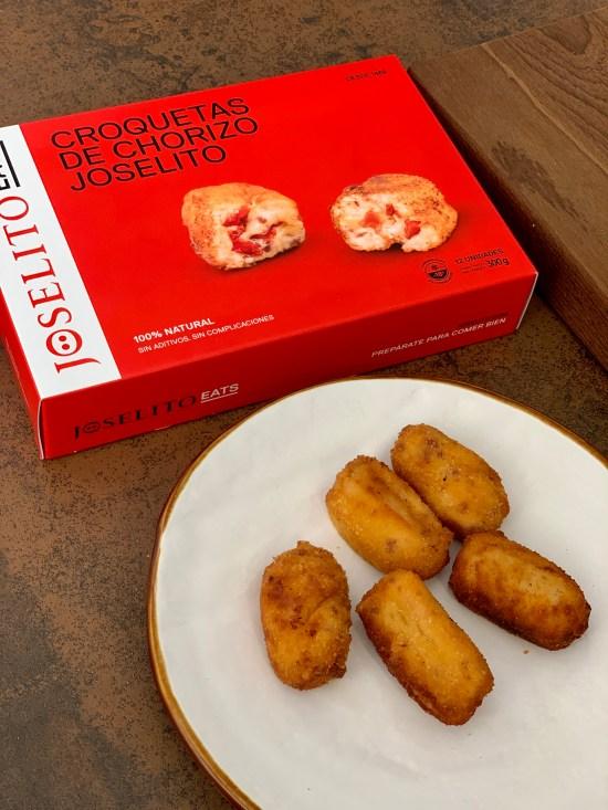 croquetas de chorizo Joselito, caja de Joselito Eats,