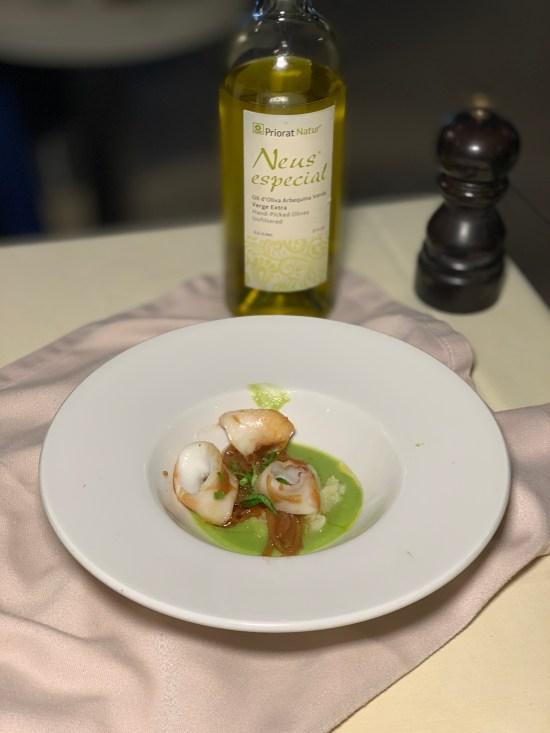 calamares. En El Blau BCN del chef Marc Roca