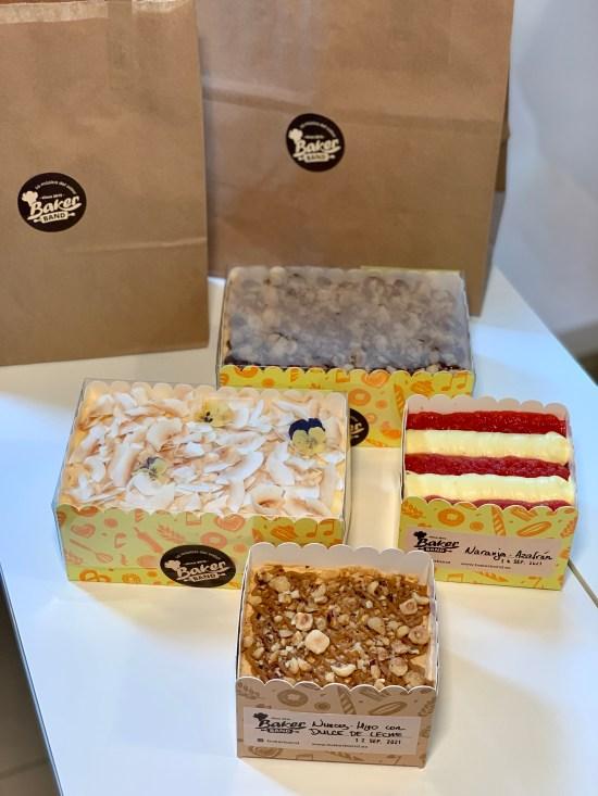Varios pasteles de Baker Band. La música del sabor
