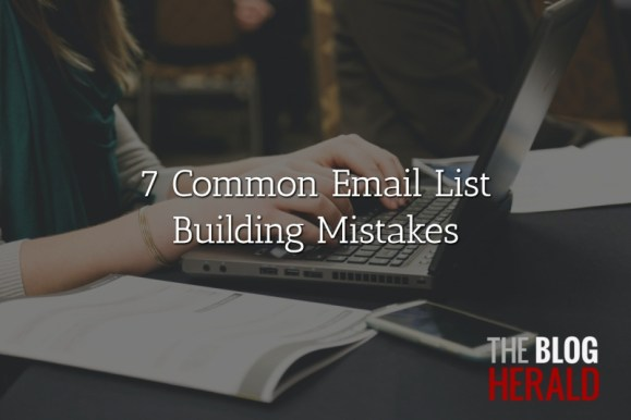common email list building mistakes