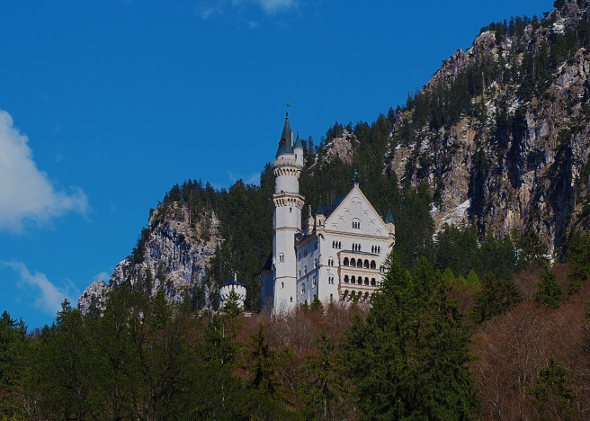 Neuschwanstein Castle - Perfect Sunny Day. Photo taken at the bottom of the hill, while waiting for the bus.