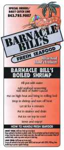 Barnacle Bill's Recipe