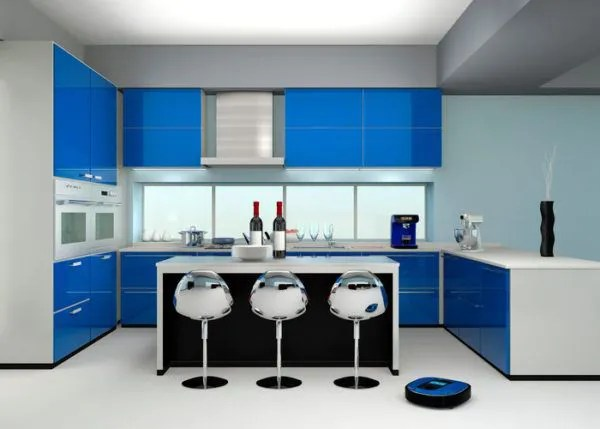 Cocinas azules 2019  BlogHogarcom