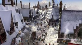 Primer vistazo a Hogsmeade en The Wizarding World of Harry Potter